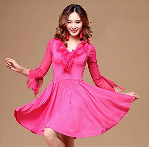 formation robe de robe danse salon de de rose vêtements de modernes danse E7nzxYwqw