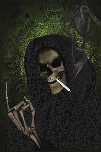 Grim Reaper Smoking Weed Art Print Poster