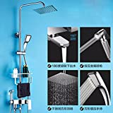 SJQKA Shower Head Shower Set Full Bathroom Toilet Set Copper Spraying Nozzle Wall Type Top Spray Shower,A