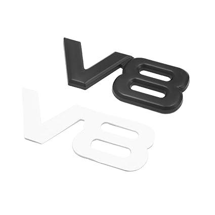 uxcell Black Metal V6 Pattern Adhesive Badge Emblem Sticker Decoration for Car Vehicle