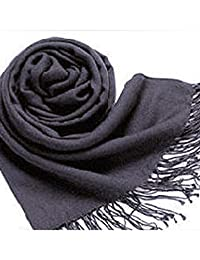Bestgift womens Elegant Muti-Color Sun Block Fashion Fringed Scarf 70cm*200cm 37# Dark Gray