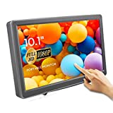 ELECROW 10.1 Inch Raspberry Pi 1920X1080p Touchscreen Capacitive IPS Monitor HDMI VGA Display Gaming Screen with Build-in Speakers for Raspberry Pi Windows PC