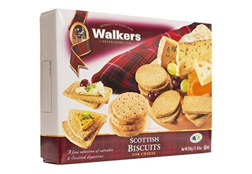 Walkers Shortbread Scottish Biscuits for Cheese, 8.8 Ounce Digestive Biscuits and Oat Cracker Variety Pack