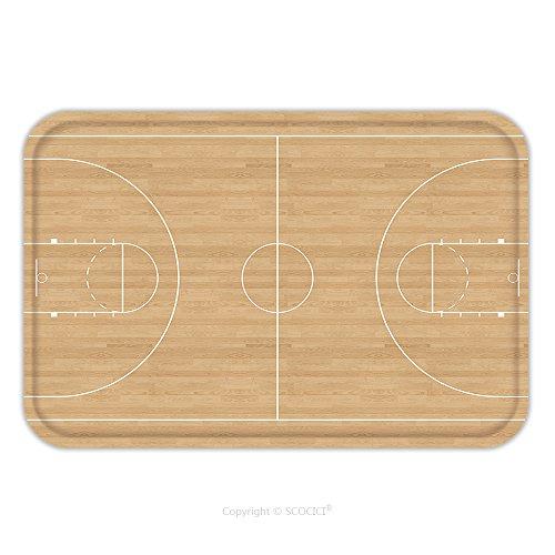 Flannel Microfiber Non-slip Rubber Backing Soft Absorbent Doormat Mat Rug Carpet Basketball Court 123173695 for Indoor/Outdoor/Bathroom/Kitchen/Workstations