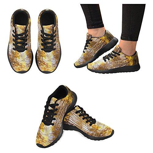 Interessante Donna Da Jogging Corsa Sneaker Leggero Andare Facile Camminare Comfort Casual Scarpe Da Corsa Autunno Foresta Di Betulle In Luce Solare Vicino A Un Fiume Al Mattino Multi 1