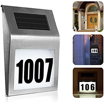 solar lighted address sign house number soonhua decorative plaque door number apartment number outdoor lighting