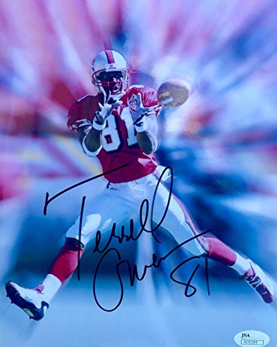 Terrell Owens 8x10 Photo (Signed Terrell Owens Picture - 8x10 - JSA Certified - Autographed NFL Photos)