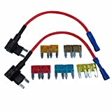 DIGITEN ATM Add-a-Circuit Mini Fuse TAP Holder Blade Style Auto Kit Assortment with 5A 7.5A 10A 15A 20A