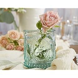 Kate Aspen Vintage Blue Glass Tealight Holder (Set