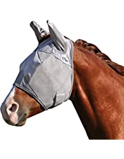 Cashel Crusader Horse Fly Mask, Standard with Ears, Horse, Grey