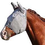 Cashel Crusader Horse Fly Mask, Standard with Ears, Warmblood, Grey