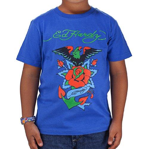 - Ed Hardy Little Girls' Toddlers Eagle Tshirt - Blue - 6/7