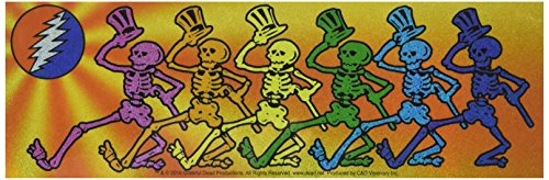 Glitter Skeleton (C&D Visionary Grateful Dead Skelly's Glitter Die Cut Vinyl Sticker Decal)