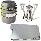 PORTABLE DOUBLE TWIN DUAL BURNER HOB CAMPING STOVE COOKER