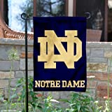 Perfect for your garden or home entrance is our Notre Dame Garden Flag and Yard Banner! This double sided college garden flag measures a large 13x18 inches, has a double-stitched border, a 1 inch top sleeve, and is made of 2 ply polyester wit...