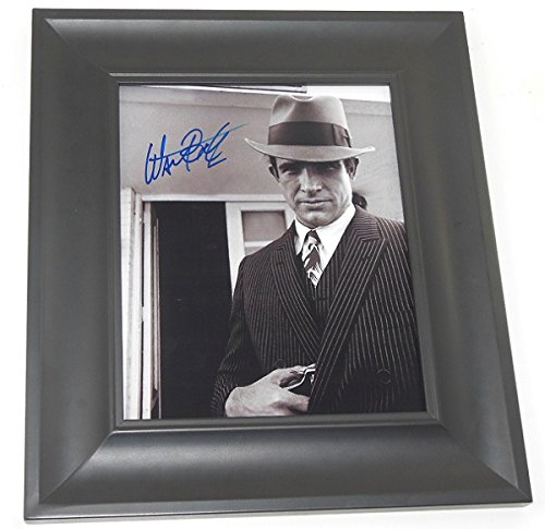 Bonnie and Clyde Warren Beatty Signed Autographed B/W 8x10 Photo Gallery Framed Loa