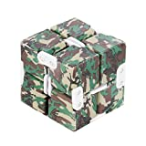LINGERY Luxury EDC Infinity Cube Mini For Stress Relief Fidget Anti Anxiety Stress Funny Decompression Toys (E)
