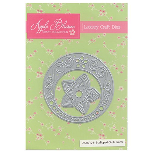 Apple Blossom Craft Die DIOB0124 Scalloped Circle by Apple Blossom Designs