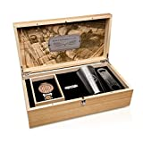 Original Grain Gift Set - Brewmaster Collection 42MM German Oak Beer Barrel Wood And Stainless Steel Wrist Watch, Stainless Steel Cup And Speed Opener