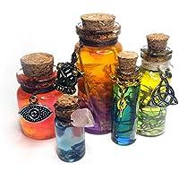 B&E Mini Potion Bottles [Randomized 5ct] Decorative Prop Fantasy Witch Wicca Occult D&D Accessory *