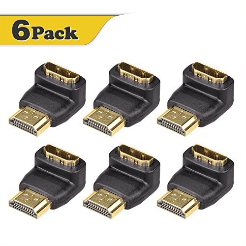 Right-Angle HDMI Male to Female Adapter Black - 1