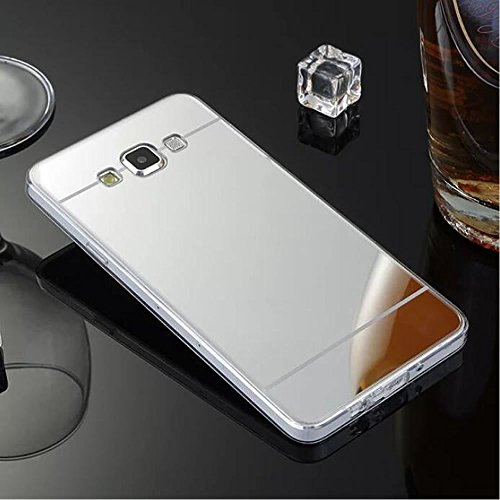 Galaxy J7 2016 Mirror Case,Soft Selfie Cover for Samsung J7 2016,Leecase Bright Reflection Radiant Stylish Luxury Clear Silicone Shinny Bling Mirror Shell for Samsung Galaxy J7 ()