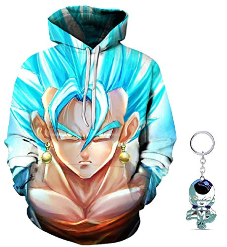 PINNACLE APPAREL Dragon Ball Z Mens Womens Fashion Unisex Goku Hoodie Drawstring Pullover Long Sleeve Sweatshirt with Pockets (4XL) -
