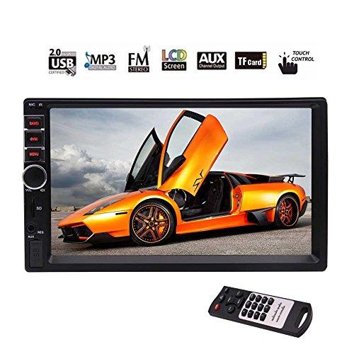 EinCar Car Stereo MP5 System Auto Video Audio Radio In Dash Head Unit support 5-touch Screen/ FM/Bluetooth/USB/SD/Steering Wheel Control Multimedia Car Deck NO dvd Player