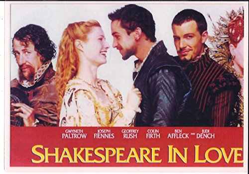 Shakespeare In Love Movie Poster Promo 7 x 10 LAMINATED Photo 003