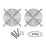 120mm Case Fan Metal Finger Grill, Silvery Color, Pack of 2 (4x Screws & Nuts are Included)