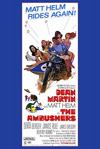 The Ambushers Poster B 27x40 Dean Martin Janice Rule James Gregory - Ambushers Poster