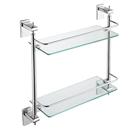 Astonishing Amazon Com Zhen Guo 2 Tiers Modern Floating Glass Shelf Download Free Architecture Designs Scobabritishbridgeorg