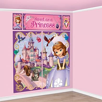 Sofia the First Scene Setter Princess Wall Mural Decoration Girls