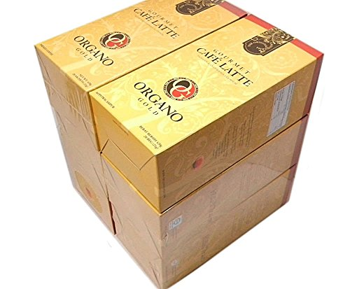 5 Boxes Organo Gold Gourmet Cafe Latte Free 5 Sachets Gano Excel 3 in 1 by Organo Gold