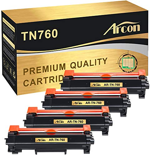 Arcon Compatible Toner Cartridge Replacement for Brother TN-760 TN760 TN730 HL-L2395DW HL-L2350DW Brother DCP-L2550DW MFC-L2710DW HL-L2390DW MFC-L2750DW HL-L2370DWXL HL-L2370DW MFC-L2750DWXL-WITH CHIP