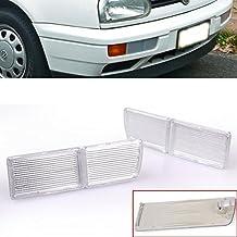 Front Clear Bumper Fog Light Reflector Cover For 1993-1998 VW Volkswagen Golf Jetta Cabrio Mk3