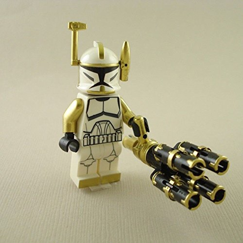 Clone Trooper Commander Arc Gold Gatling Gun mini figure