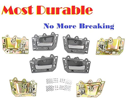 05 Chrome Door Handles (05-11 Jeep Grand Cherokee Inside Door Handle Set 4PCS Gray & Chrome DS294 05 06 07 08 09 10 11)