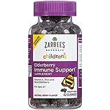 Zarbee's Naturals Children's Elderberry Immune Support* Gummies with Vitamin C, Zinc, Natural Berry Flavor, 42 Count