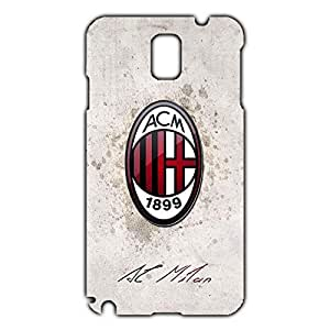 Associazione Calcio Milan Logo Phone Case for Samsung Galaxy Note 3 3D Black Slip On Cover