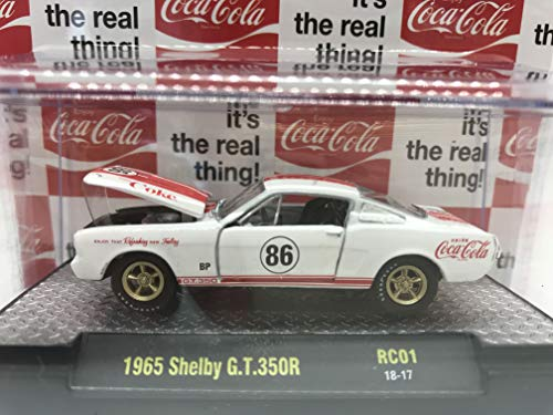 M2 Machines Coca-Cola Limited Edition 1965 Shelby G.T.350R 1:64 Scale RC01 18-17 White/Red Details Like NO Other! Over 42 Parts 1 of 9600