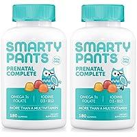 SmartyPants Prenatal Complete Daily Gummy Vitamins: Gluten Free, Multivitamin & Omega 3 Fish Oil (DHA/EPA Fatty Acids), Folate (methylfolate), Vitamin D3, Non- GMO, 360 Count (60 Day Supply) 2 pack