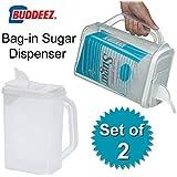 """Bag in Sugar Dispenser (Clear) (10""""H x 9""""W x 5""""D) Pack of 2"""