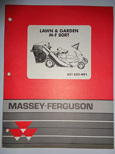 Massey Ferguson MF 80RT Lawn Garden Tractor Rider Mower Parts Catalog Book Manual 3/91 original