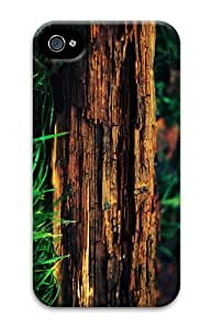 waterproof cover decayed tree trunk PC Case for iphone 4/4S