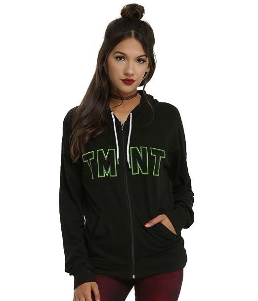 Teenage Mutant Ninja Turtles Heads Logo Junior Womens Hoodie
