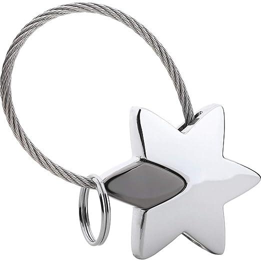 C.K.H. Creative Star - Llavero de Metal para Coche, diseño ...