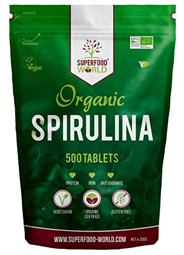 Organic Spirulina Tablets (500 X 500mg) Premium Quality Dietary Superfood | Natural Source of Vegan Protein, Iron…