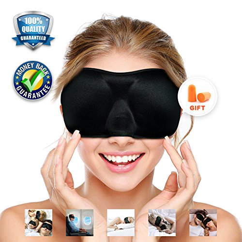 Sleep Mask 3D Contoured Eye Mask for Sleeping No Pressure On