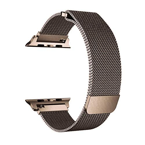 OROBAY Compatible with Watch Band 38mm 40mm, Stainless Steel Milanese Loop with Magnetic Closure Replacement Band Compatible with Watch Series 4 Series 3 Series 2 Series 1, Bronzed Gold
